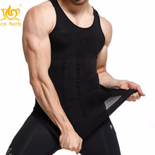 Cn Herb Gkvk Mens Slimming Body Shaper Vest Shirt Abs Abdomen Slim Free Shipping