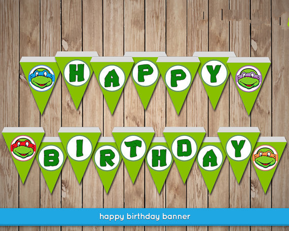 Teenage Mutant Ninja Turtles Banner Baby Shower Birthday Party Decorations Kids Event Supplies Superheroes Candy Bar In Banners