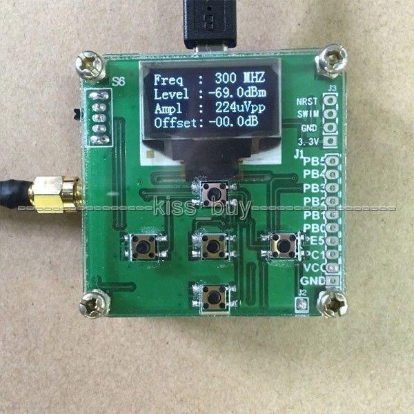 OLED תצוגת RF כוח מטר 1 mhz 8000 mhz יכול סט RF כוח הנחתה ערך דיגיטלי מטר + תכנה /10 w 30DB מחליש