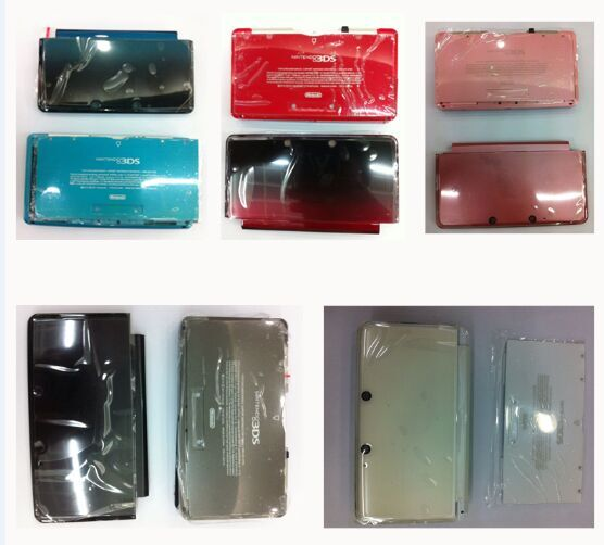 Full Shell Case Housing For Nintend 3DS Gamepad Console Cover With Rubber Glass