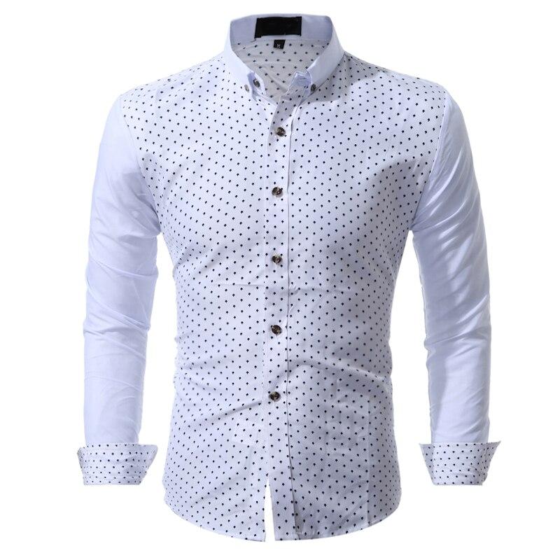 Vogue marka ładne mody koszula męska z długim rękawem topy