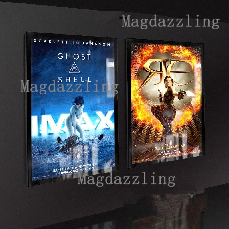 3pcs magnetic aluminum led illuminated movie poster frame