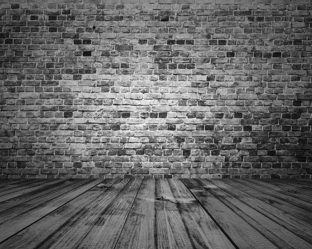 Wooden Floor Brick Stone Wall Photography Backdrops Wood Photo
