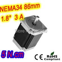 Шагового двигателя 34HS38-3008S L 97 мм Nema 34 с 1.8 град. ток 3 А крутящий момент 5 n. см и 8 провода
