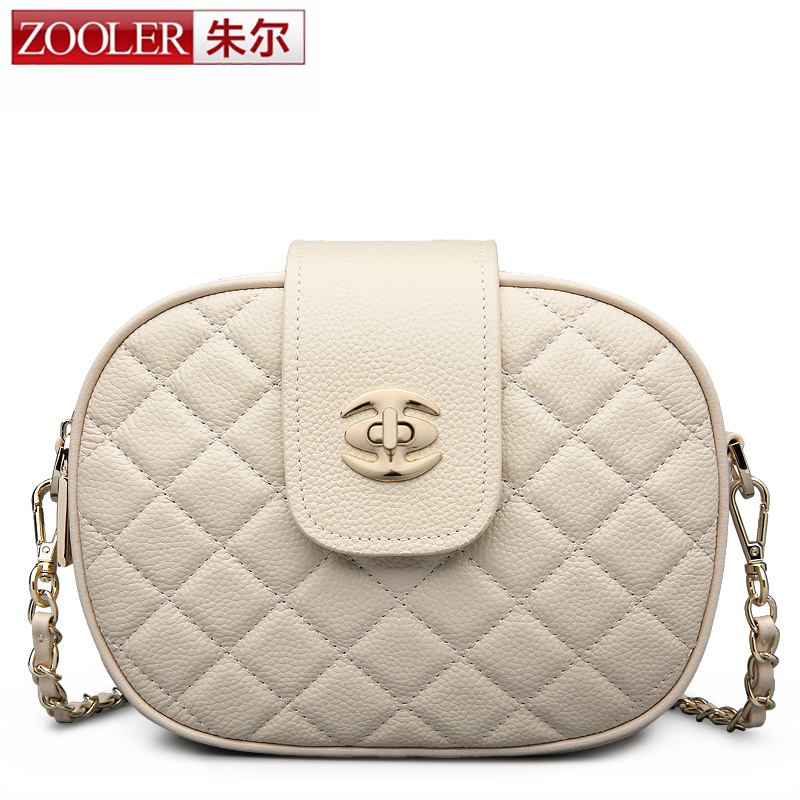 ФОТО ZOOLER new fashion women messenger shoulder bag stylish chains cowhide leather bags genuine leather bag crossbody for lady #2229