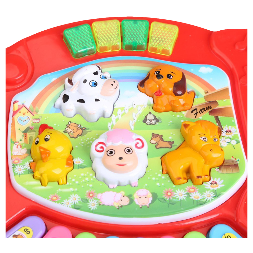 HOT Baby Kids Musical Educatief Animal Farm Piano Developmental Muziek Speelgoed 4