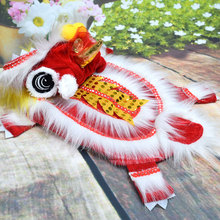 Costume Makeover Dragon Dance-Lion Funny Chinese Red Festive Lucky New-Year's-Pet