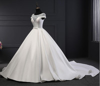 Vestidos De Noiva China Bridal Gowns Vintage Cap Sleeves Wedding Dress Real Photos Ball Gown Newest