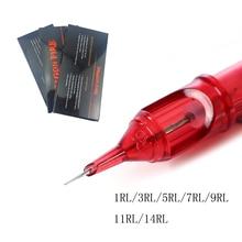 Wegwerp Tattoo Naalden Rl Cartridge Naald Voor Machine Pen Grip Cartridge 10 Stuks Liner Siliconen Permanente Make Up 9RL/11RL/14RL