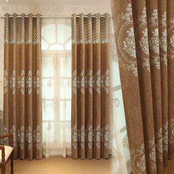 Europejskiej kaszmiru zasłony żakardowe zasłony z szenili tkaniny salon balkon zasłony hurtownia konfigurowalny gotowych produktów
