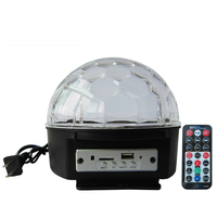 BLUETOOTH MP3 Crystal Magic Rotating Ball Remote Control 9 Colors RGB Disco Balls Lights For Parties