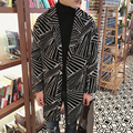 Novo 2016 moda inverno turn-down collar e listrado homens thinckening batwing manga casaco de lã casaco de roupas masculinas NDY12