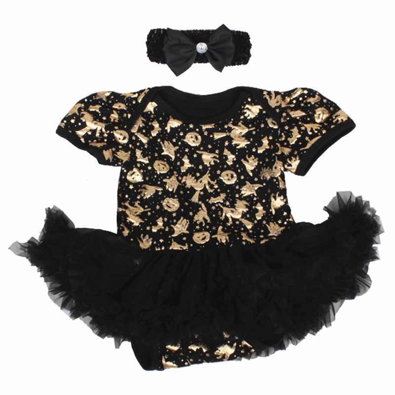 My 1st Хэллоуин Волшебная Кепка платье-пачка кружевное платье для маленьких девочек Джемперы модная одежда для младенцев Комбинезоны Костюмы для новорожденных