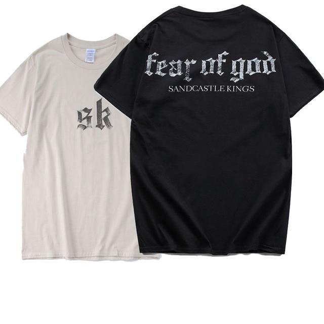 1b377518e0ee Fear Of God T Shirt Novelty Men Sandcastle Kings Tshirts 2018 New Kanye  Sand Color Sk Summer Style Magazine Hip Hop T-Shirt