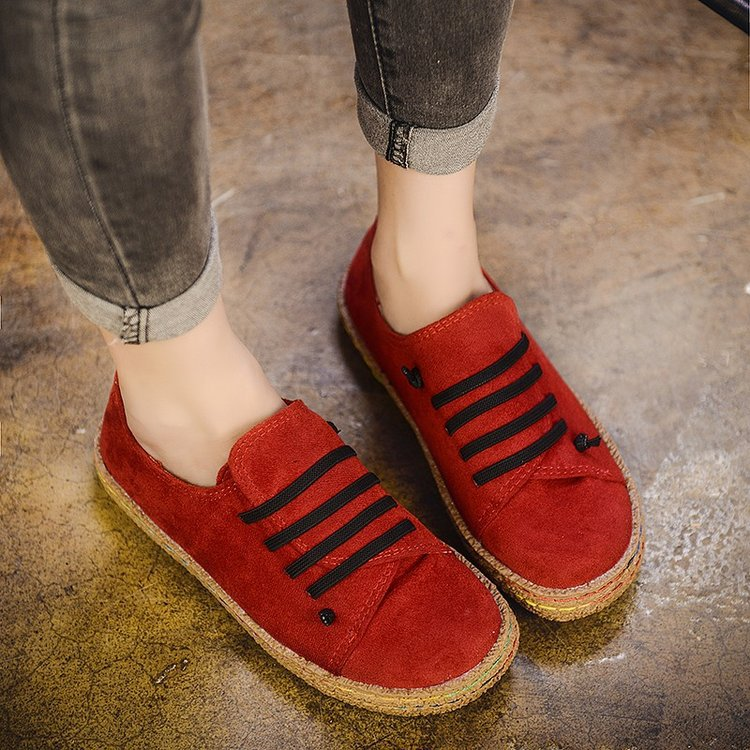 Flat  Women Autumn Shoes Woman Casual Lace-up Flats Comfortable Round Toe Loafers Shoes Flat Shoes Women