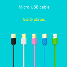 Gold plated Micro USB Cable Data Sync charger Fast charging short 13cm 1m 2m 3m long Android cable for xiaomi Samsung Meizu