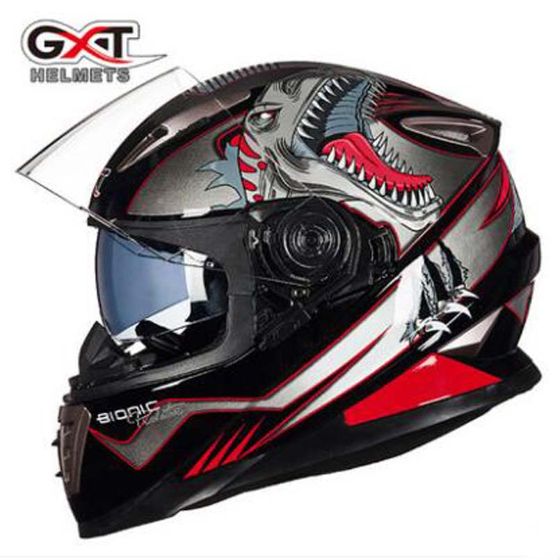 2017 Winter New GXT G-999 Full face Motorcycle helmets Double visor Motorbike helmets Moto Racing Kinght equipment 2017 new yohe full face motorcycle helmet yh 993 full cover motorbike helmets made of abs and pc visor lens have 5 kinds colors