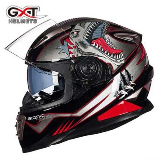 75fb32d93f3 G-999 invierno nuevo GXT 2017 cara completa motocicleta cascos doble visor Moto  cascos Moto