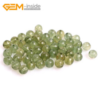 Gem-dentro de 5mm, 6mm, 7mm 50 Unids Verde Natural Apatita Granos Para La Joyería Que Hace 15 pulgadas Tamaño Seleccionable