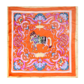 [LESIDA] 100% Silk Scarf Female,Fashion Printed Square Scarves Satin Foulard Women,Seda Bandana,China One Certainly XF1001