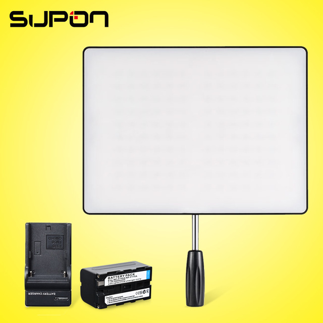 YONGNUO YN600 Air 3200-5500K Ultra Thin On Camera Led Video Light Pad Panel for  DSLR & Camcorder+1* NP-F750 Battery