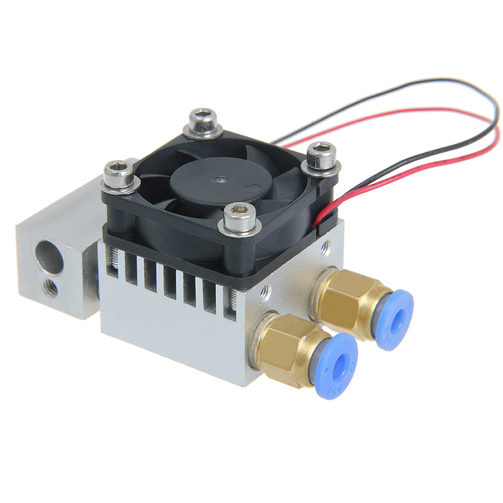 2 in 1 out Mix Color Hotend Dual Extruder  for 3D Printer 0.4mm Nozzle Geeetech