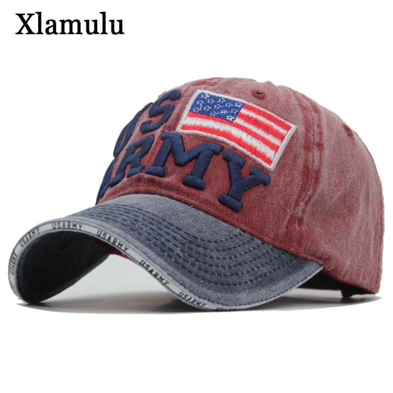 Xlamulu US ARMY   Baseball     Caps   Snapback Hats For Men   Cap   Women Vintage Bone Snapback Male   Caps   Trucker Casquette Gorras Dad Hats