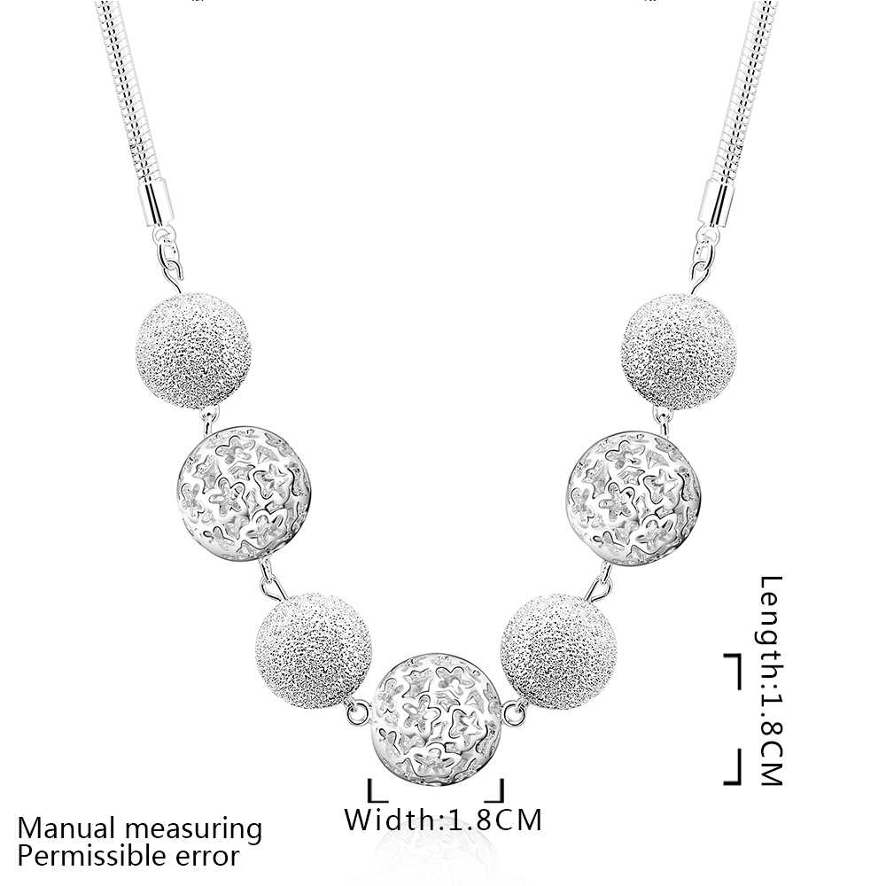 Free Shipping 925 Silver Ball hollow Choker Necklace Fashion silver plated Jewelry,factory price,Inlaid Stone Belt necklace