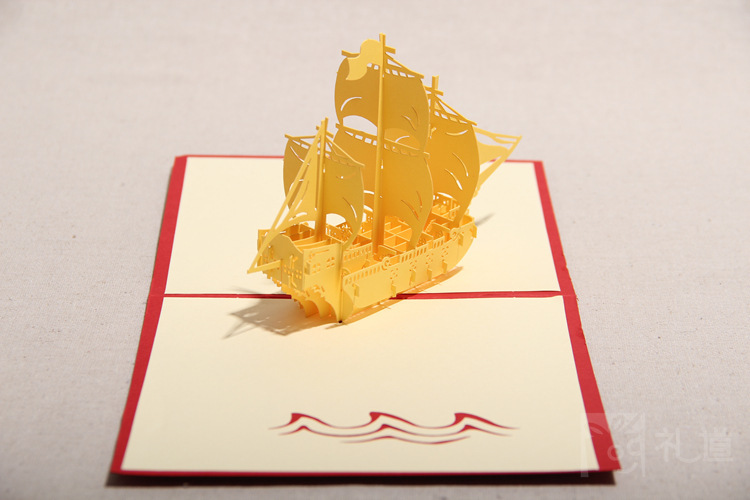 Diy creative sailing boat greeting cards handmade kirigami origami diy creative sailing boat greeting cards handmade kirigami origami 3d pop up greeting card for birthday party gift hq1227 on aliexpress alibaba m4hsunfo