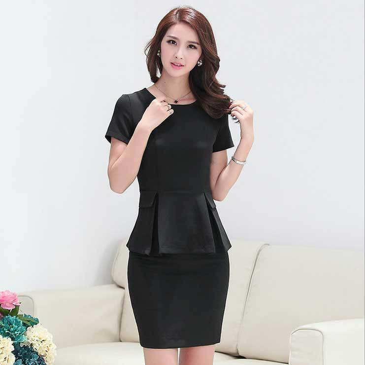 Summer slim office uniform designs women skirt suits new for Office uniform design 2015
