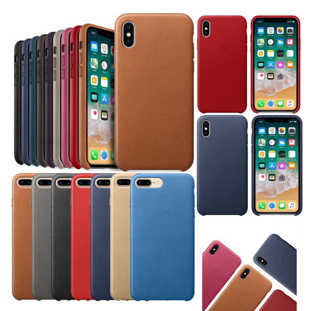 pretty nice 9fa01 3d516 US $6.99 |Original Leather Case For Apple iPhone X XS Max XR Genuine PU OEM  Cover US Stock-in Fitted Cases from Cellphones & Telecommunications on ...