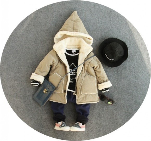 only coat 1pc 2-8Y new 2017 winter boys warm fleece inside coat with hood kids fashion winter warm clothes