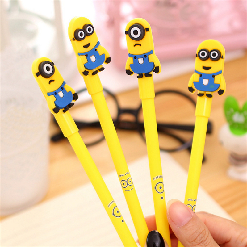 Creative Cartoon Small Yellow People Neutral Pen 0.38mm Black Student Stationery Pencil Wholesale