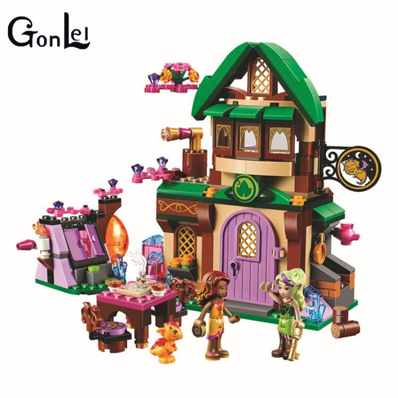 (GonLeI) 10502 Fairy Friends Elves The Starlight Inn Kits 41174 Building Blocks Bricks Girl Toys For Children Compatible with kazi 608pcs pirates armada flagship building blocks brinquedos caribbean warship sets the black pearl compatible with bricks