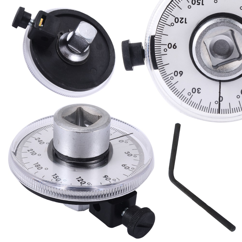 Professional 1/2 Inch Adjustable Drive Torque Angle Gauge Auto Garage Tool Set For Hand Tools Wrench