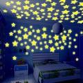 50 trasteros fluorescente luminosa habitación del bebé juguetes del Bebé Estrella infantil etiqueta adhesiva etiqueta de Envío