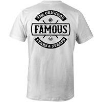 Estrellas famosas y Correas de caos Patch t-shirt blanco ropa Camisetas Tees ropa de los hombres tamaño grande: s-XXXL