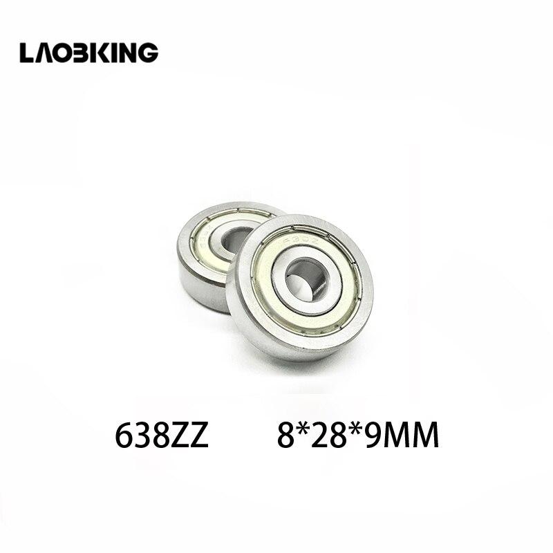 10pcs/lot 638 638ZZ  80038 8*28*9 mm Deep Groove Ball Bearing Steel Miniature  Mini Bearings 638Z 638-2Z 8x28x9mm Brand New