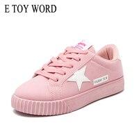 E OYUNCAK KELIME Moda Kadın Tüm Sezon Ayakkabı Kadınlar Için Rahat Ayakkabı Nefes platformu Ayakkabı eğiticilerin yıldız Öğrenci Flats XCD41