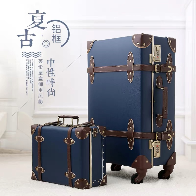 20 22 24 inch PU Leather trolley suitcases and travel bags valise cabine valiz koffer maletas