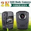 Envío libre! 2 K HD 150 grados Cuerpo S60 Cámara Visión Nocturna Registro de Personal de Seguridad y de Policía 128G + GPS de Ambarella A7LA50