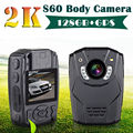 Free shipping!2K HD 150 degree S60 Body Personal Security &Police Camera Night Vision Record 128G+GPS Ambarella A7LA50