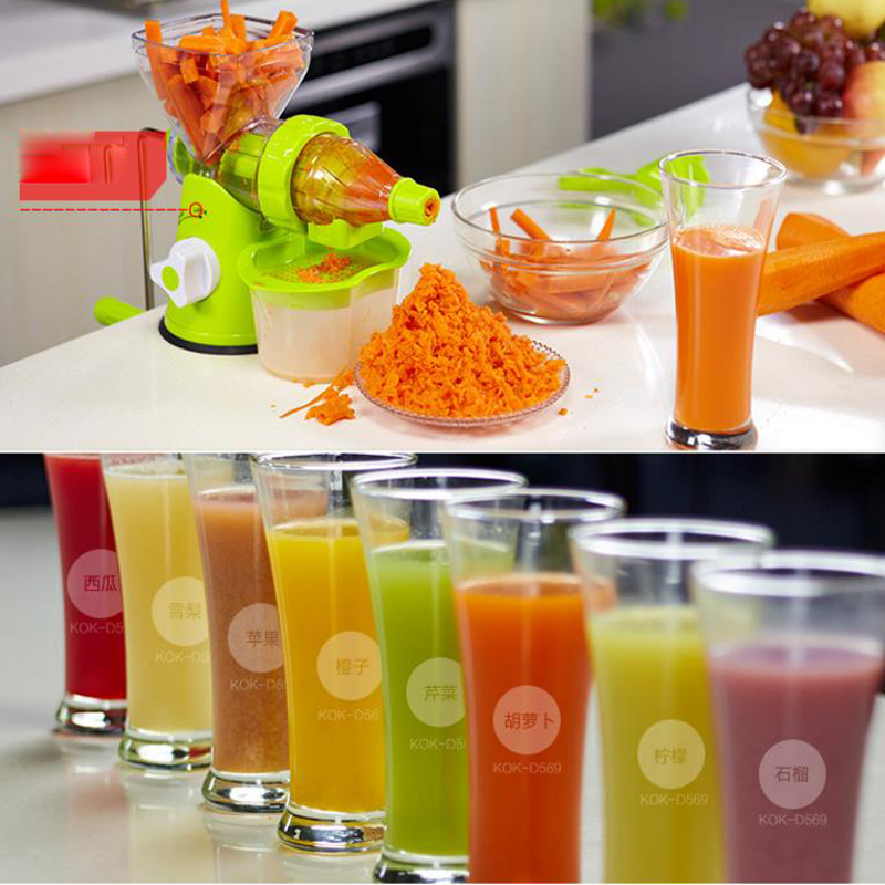 Hand manual juicer Auger Slow squeezer Fruit Wheat Grass Vegetables orange juice extractor machine Manual Juicer Fruit Squeezer electric orange fruit juicer machine blender extractor lemon juice