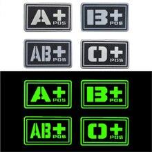 Зеленый Сувенирный значок 3D ПВХ A+ B+ AB+ O+ Положительный A-B-AB-O-отрицательный кровяный Тип Группа патч наклейки нашивки для сумок