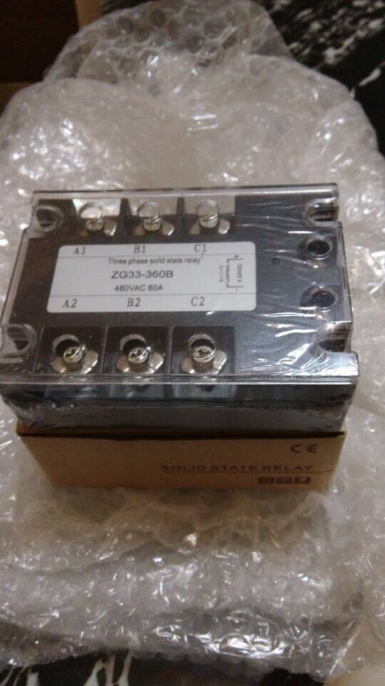 ФОТО free shipping 120A Three Phases 220v voltage Solid State Relay SSR DC control AC (ZG33-120DA)