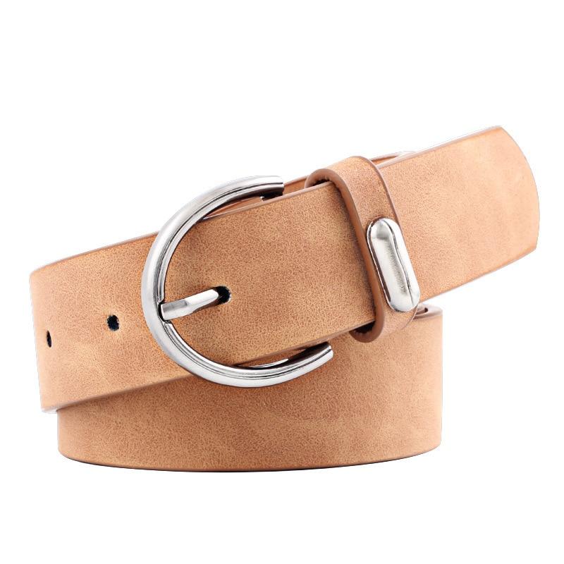Women Belt 2019 New Wide Suede Leather Waist Belt Female Casual Ladies Pin Buckle Belts For Women Dresses Belts