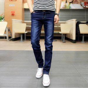 Image 1 - Lguc. h estiramento rasgado calças de brim dos homens 2020 moda masculina calças de brim casuais verão outono homem preto azul denim calças dos homens 27 28 36