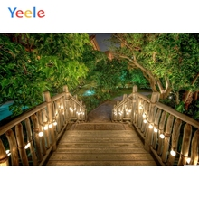 Yeele Landscape Photocall Wood Bridge Chalet Lights Photography Backdrops Personalized Photographic Backgrounds For Photo Studio