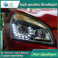 Car Styling Head Lamp Case For Nissan Qashqai Headlights LED Headlight DRL Lens Double Beam Bi