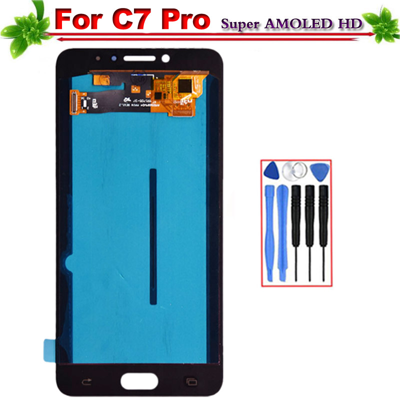 Super Amoled for SAMSUNG Galaxy C7 Pro LCD Display Touch Screen Digitizer Assembly Replacement for Galaxy C7 Pro C7010 LCDSuper Amoled for SAMSUNG Galaxy C7 Pro LCD Display Touch Screen Digitizer Assembly Replacement for Galaxy C7 Pro C7010 LCD